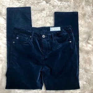 Ag Adriano Goldschmied Pants - AG Adriano Goldschmied Blue Corduroy Stevie Jeans